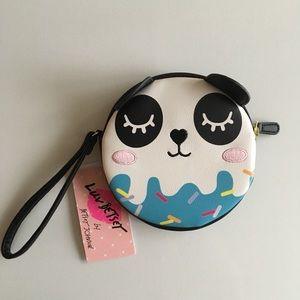 Betsey Johnson Panda wristlet wallet